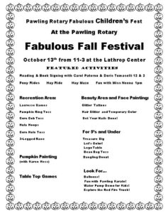 Pawling Rotary Children's Fest at the Pawling Rotary Fall Festival