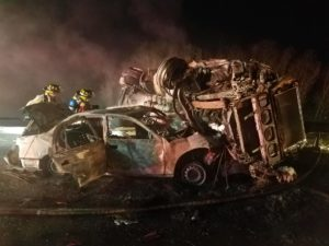 Interstate 84 closed in the area of exit 17 due to serious motor vehicle crash
