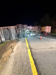 State Police investigate I-84 rollover