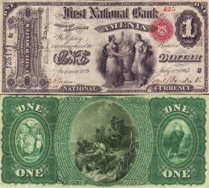 Local History -1865 Amenia Dollar