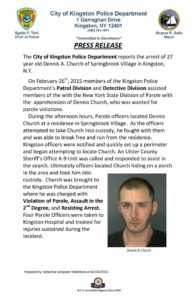 Kingston man arrested for assaulting parole officers