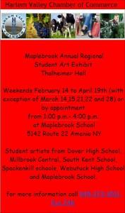 Maplebrook Annual Regional  Student Art Exhibit  Thalheimer Hall