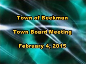 The Town of Beekman Town Board Meeting from Wednesday, February 4, 2015
