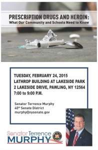 Senator Terrence P. Murphy will be hosting a Heroin and Opiate Abuse Forum