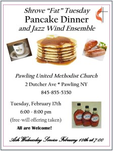 "Shrove ""Fat"" Tuesday Pancake Dinner and Jazz Wind Ensemble"