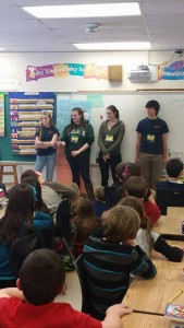 Interact Club of Pawling visits 3rd graders