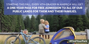 A new initiative called Every Kid in a Park will give fourth graders and their families free admission to national parks and recreation areas for a full year