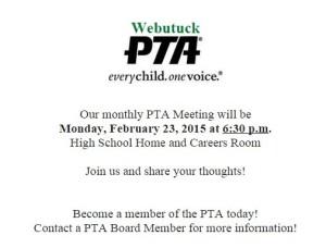 Webutuck PTA Meeting