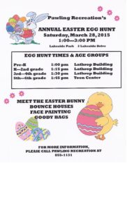 Pawling Recreation's Easter Egg Hunt