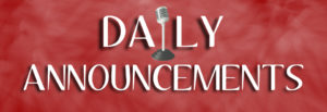 Dover High School Daily Announcements – MONDAY, MARCH 9, 2015