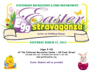 Hop on over to the Recreation Center for our Annual Egg Hunt…..
