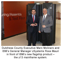 "Poughkeepsie is ""Center of Universe"" for IBM's New Flagship Product, Molinaro meets team behind the new z13 mainframe system"