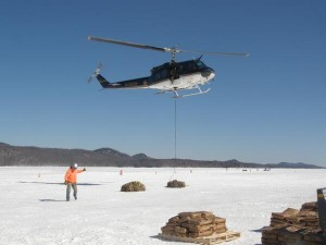 State Helicopters Assist in DEC Project to Reintroduce Brook Trout to Remote Adirondack Pond