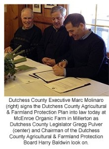 County Executive Molinaro Signs Agricultural and Farmland Protection Plan into Law