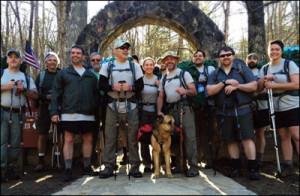 Warrior hikers begin 2,168-mile journey