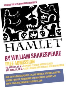 "The AceKids Theatre Program proudly presents William Shakespeare's ""Hamlet"""