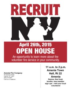Amenia Volunteer Fire Dept Open House – Apr 26
