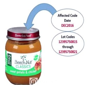 Beech-Nut Nutrition Recalls Baby Food Product Due to Possible Foreign Matter Contamination