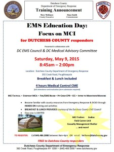 Dutchess County Department of Emergency Response Training Announcement