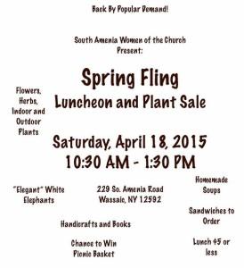 Spring Fling! April 18