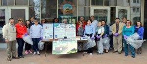 County Executive Molinaro and Dutchess County employees participate in the Third Annual Earth Day Walk and Clean-up