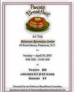 Pancake Breakfast at the Patterson Recreation Center