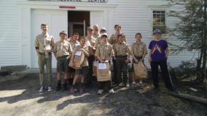 Pawling Boy Scouts score big for the Pawling Resource Center!