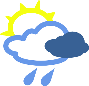 Today Showers likely, with thunderstorms also possible after 1pm