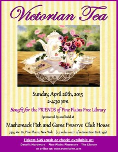 The Friends of the Pine Plains Free Library  Victorian Tea  Benefit
