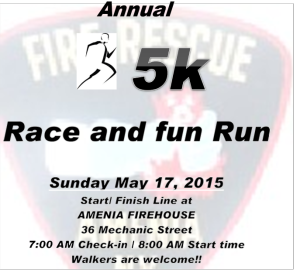 AMENIA FIRE COMPANY  5K RACE, FUN RUN AND WALK
