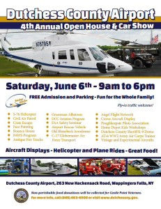 Dutchess County Airport 4th Annual Open House & Car Show to be Held June 6th