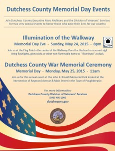 Dutchess County Memorial Day Events: May 24th and May 25th