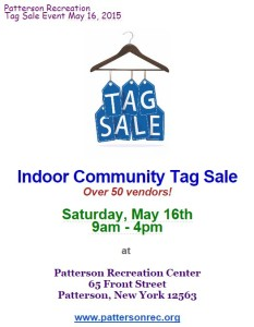 Patterson Recreation Tag Sale Event May 16, 2015