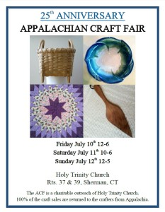 25th Annual Appalachian Craft Fair at Holy Trinity Church in Sherman