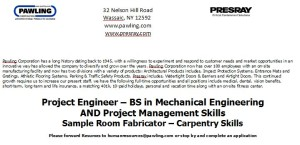 Job Posting: Project Engineer