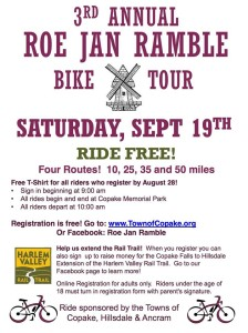 3rd Annual Roe Jan Ramble Bike Tour