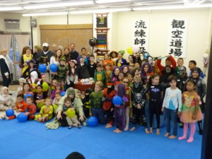 "Students at Pawling Karate participated in a ""Trick of Treat For The Hungry"" food drive for the Community Resource Center"