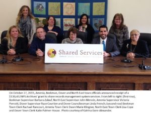 Amenia-Beekman-Dover-North East Shared Record Management Services Grant Press Conference