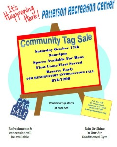 Patterson indoor tag sale!