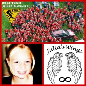 Team Julia for Julia's Wings Foundation nearing the Finish Line