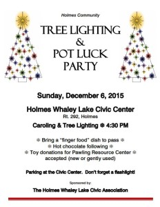 Holmes Community Tree Lighting & POT LUCK Party