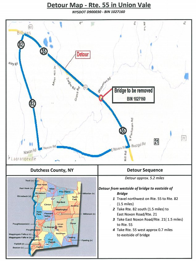 detour information for route 55 closure from march 22 2016 july 25 2016 the harlem valley news. Black Bedroom Furniture Sets. Home Design Ideas