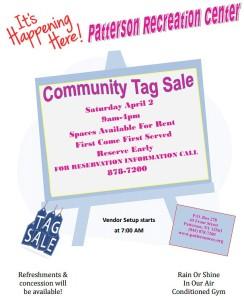 Patterson Community Tag Sale