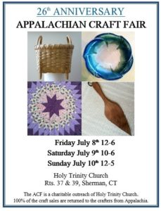 26th Annual Appalachian Craft Fair  at Holy Trinity Church in Sherman