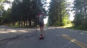 Dan Bowen lays down a record SUS KOM (Stand Up Spike King Of Mountain) time for local youth to follow, finishing up Old Quaker Hill Road at Quaker Hill Country Club