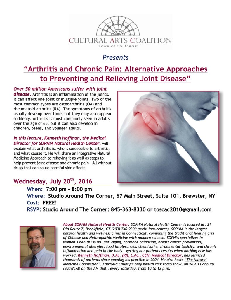 July 2016 Lecture at SATC Arthritis