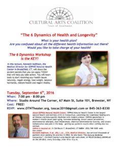 """The 6 Dynamics of Health and Longevity"""