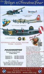 Wings of Freedom Tour Returns to Dutchess County Airport  Rare WWII Aircraft on Display September 9-11