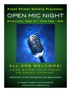 Front Street Gallery Presents – Open Mic Night