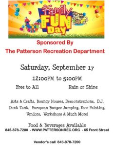 Patterson Recreation Family Fun Day
